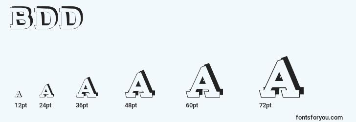 sizes of brokendepthdemo font, brokendepthdemo sizes