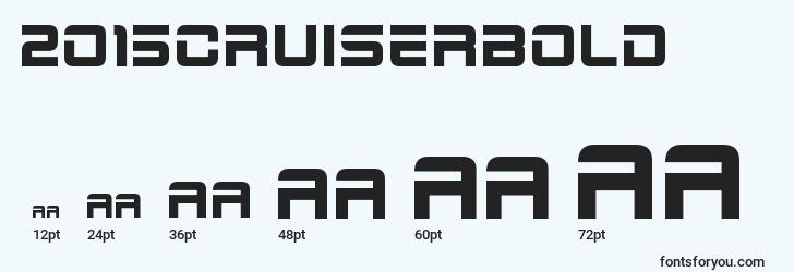 sizes of 2015cruiserbold font, 2015cruiserbold sizes