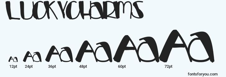 sizes of luckycharms font, luckycharms sizes