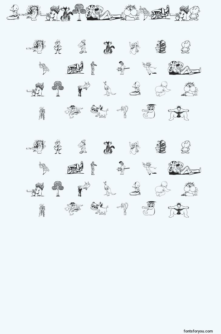 characters of randomthing1 font, letter of randomthing1 font, alphabet of  randomthing1 font