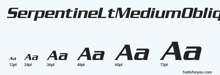 sizes of serpentineltmediumoblique font, serpentineltmediumoblique sizes