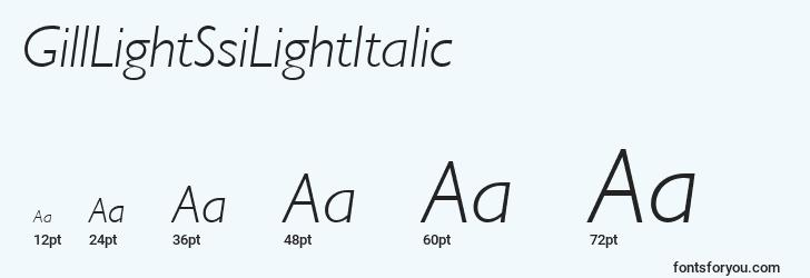 sizes of gilllightssilightitalic font, gilllightssilightitalic sizes