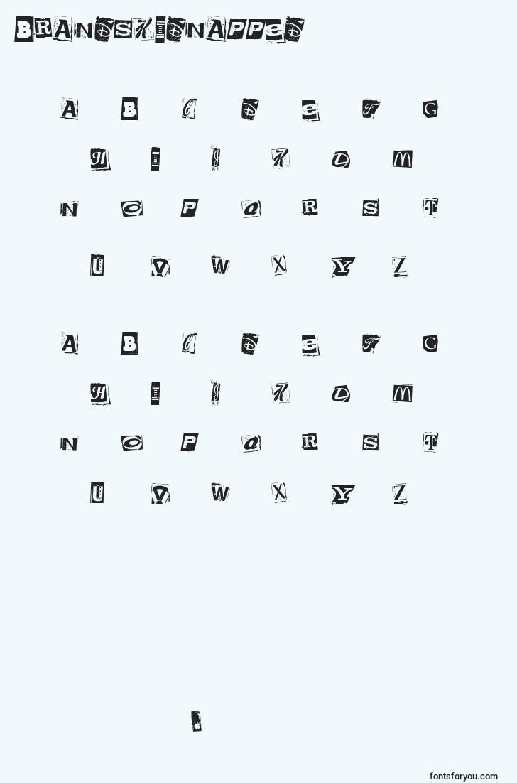 characters of brandskidnapped font, letter of brandskidnapped font, alphabet of  brandskidnapped font