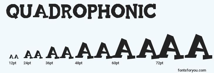 sizes of quadrophonic font, quadrophonic sizes