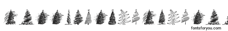 MerryChristmasTrees font