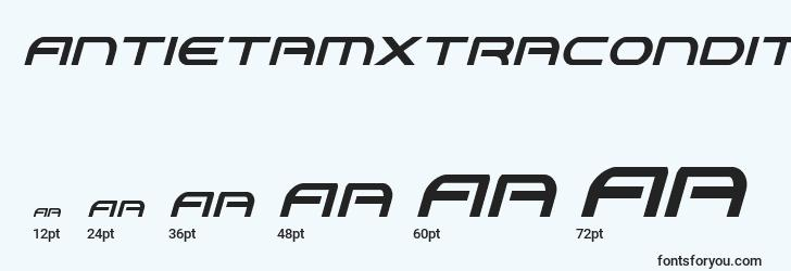 sizes of antietamxtracondital font, antietamxtracondital sizes