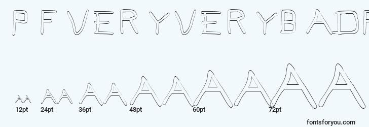 sizes of pfveryverybadfont7outline font, pfveryverybadfont7outline sizes