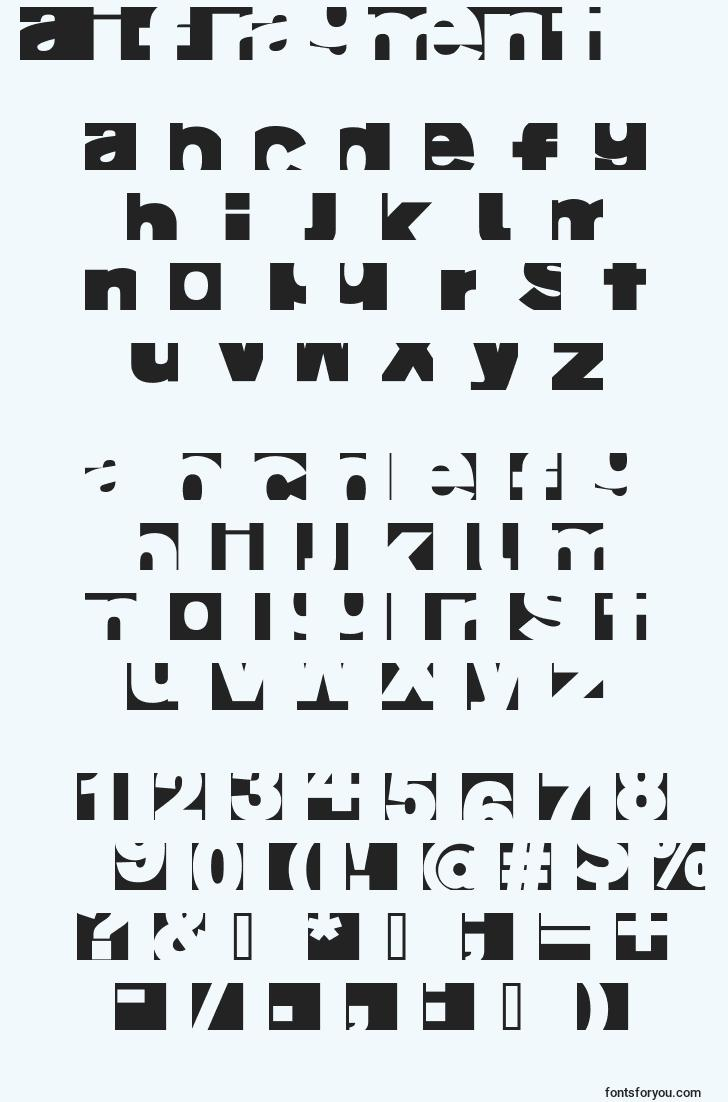 characters of aifragment font, letter of aifragment font, alphabet of  aifragment font