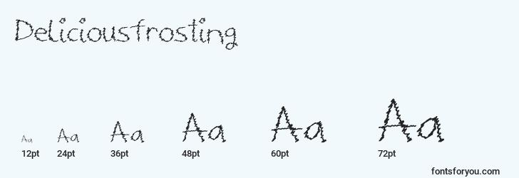 sizes of deliciousfrosting font, deliciousfrosting sizes