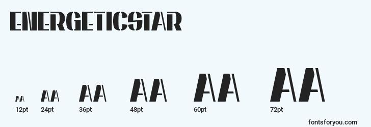 sizes of energeticstar font, energeticstar sizes