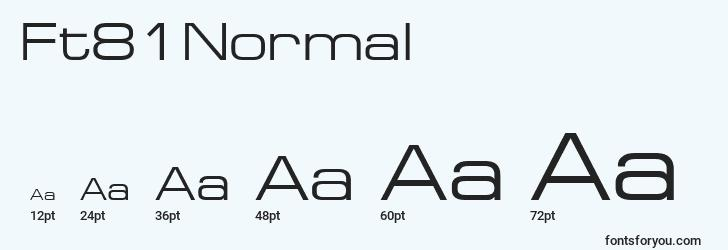 sizes of ft81normal font, ft81normal sizes