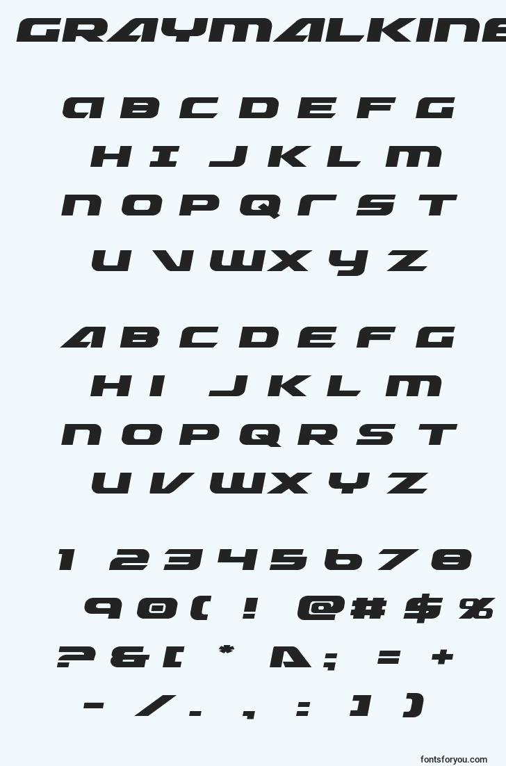 characters of graymalkinexpand font, letter of graymalkinexpand font, alphabet of  graymalkinexpand font