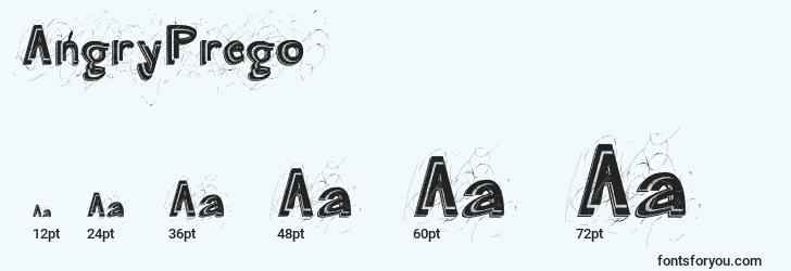 sizes of angryprego font, angryprego sizes