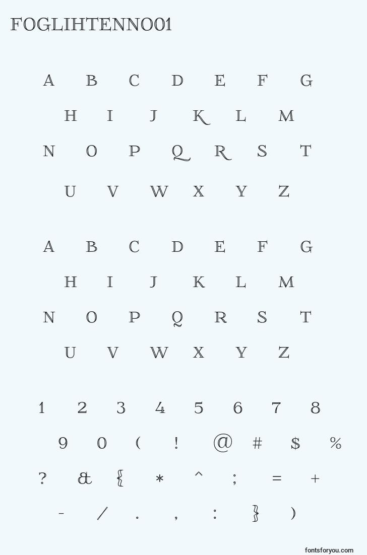 characters of foglihtenno01 font, letter of foglihtenno01 font, alphabet of  foglihtenno01 font