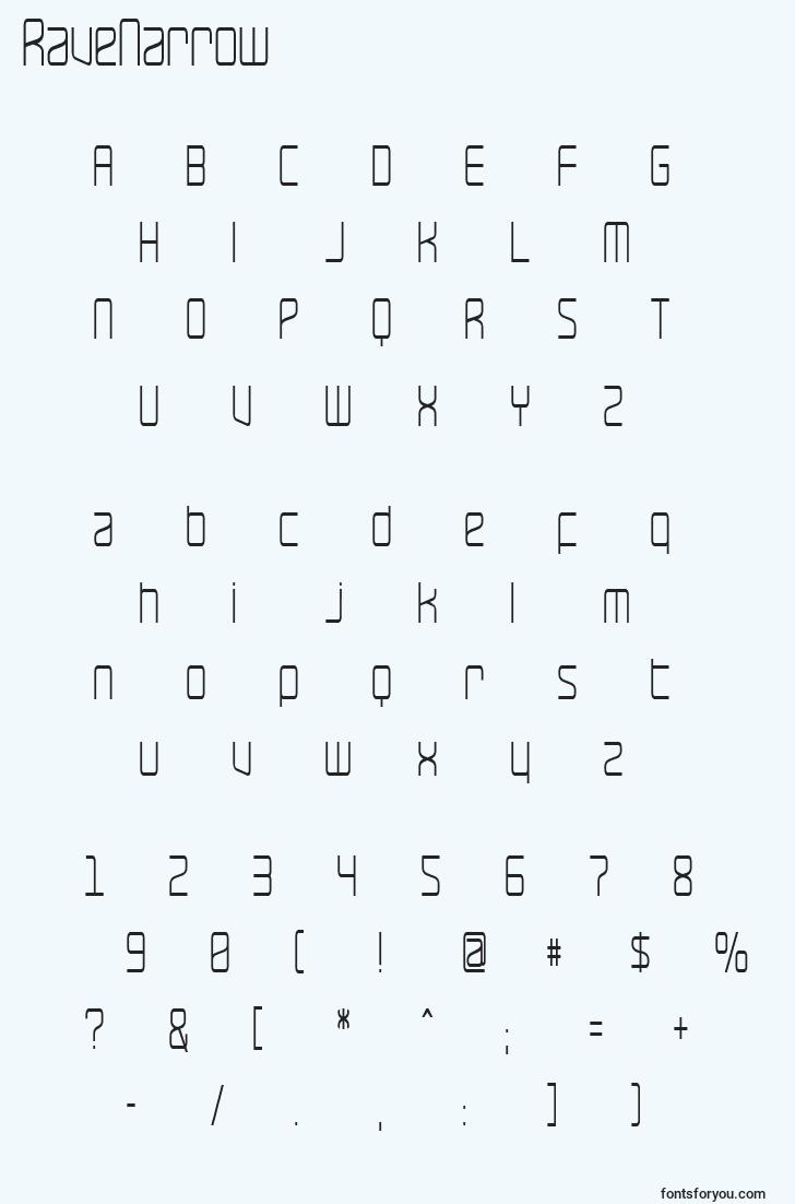 characters of ravenarrow font, letter of ravenarrow font, alphabet of  ravenarrow font