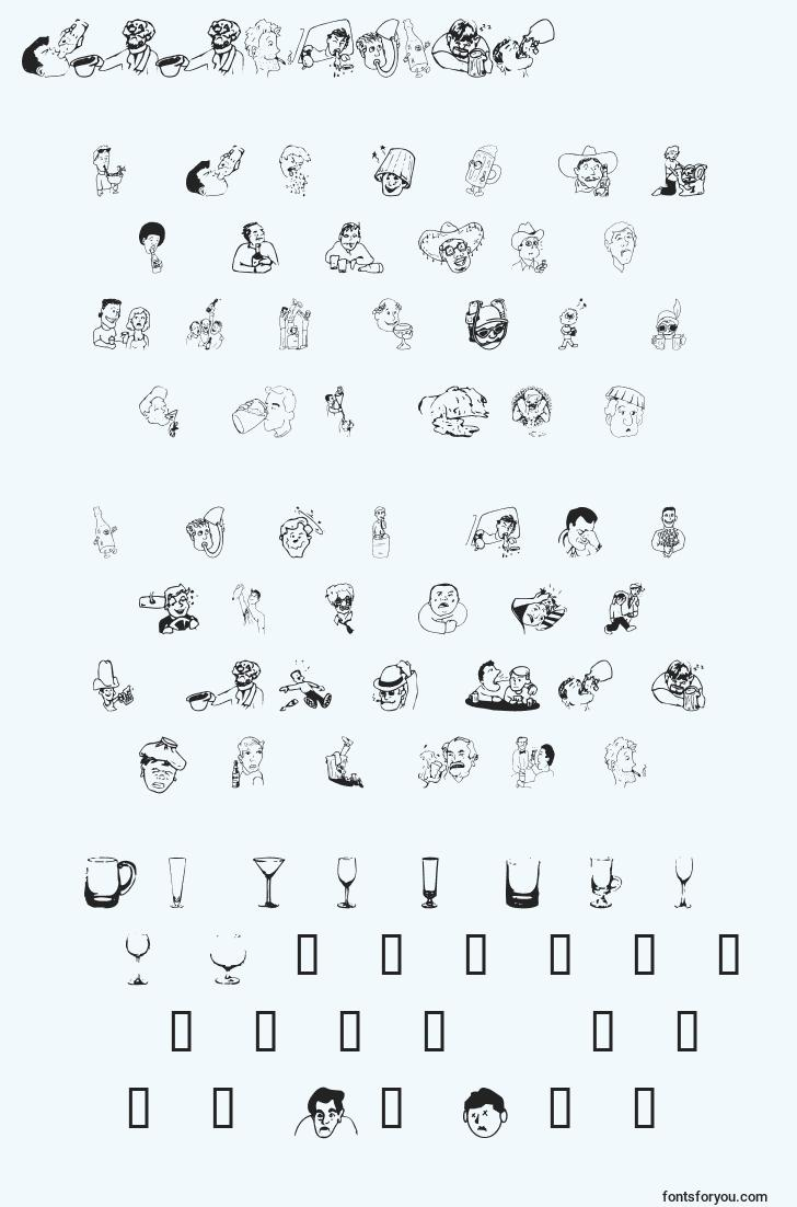 characters of boozebats font, letter of boozebats font, alphabet of  boozebats font