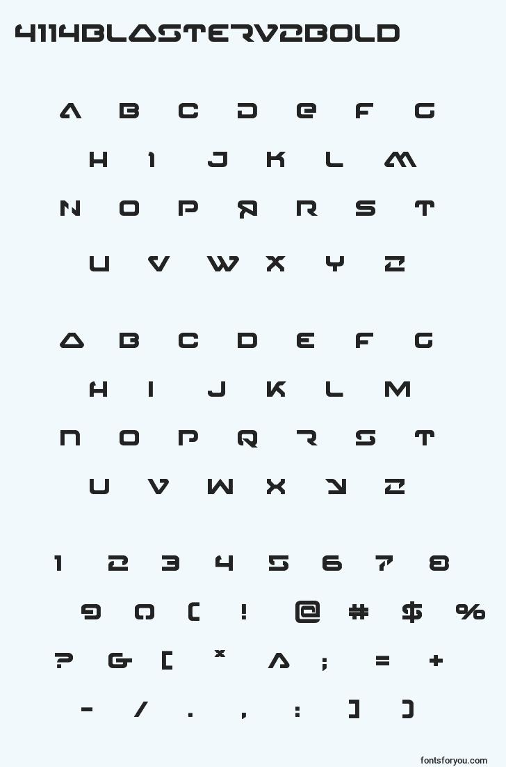 characters of 4114blasterv2bold font, letter of 4114blasterv2bold font, alphabet of  4114blasterv2bold font