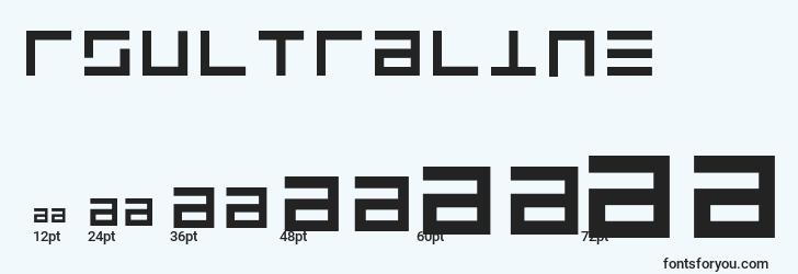 sizes of rsultraline font, rsultraline sizes