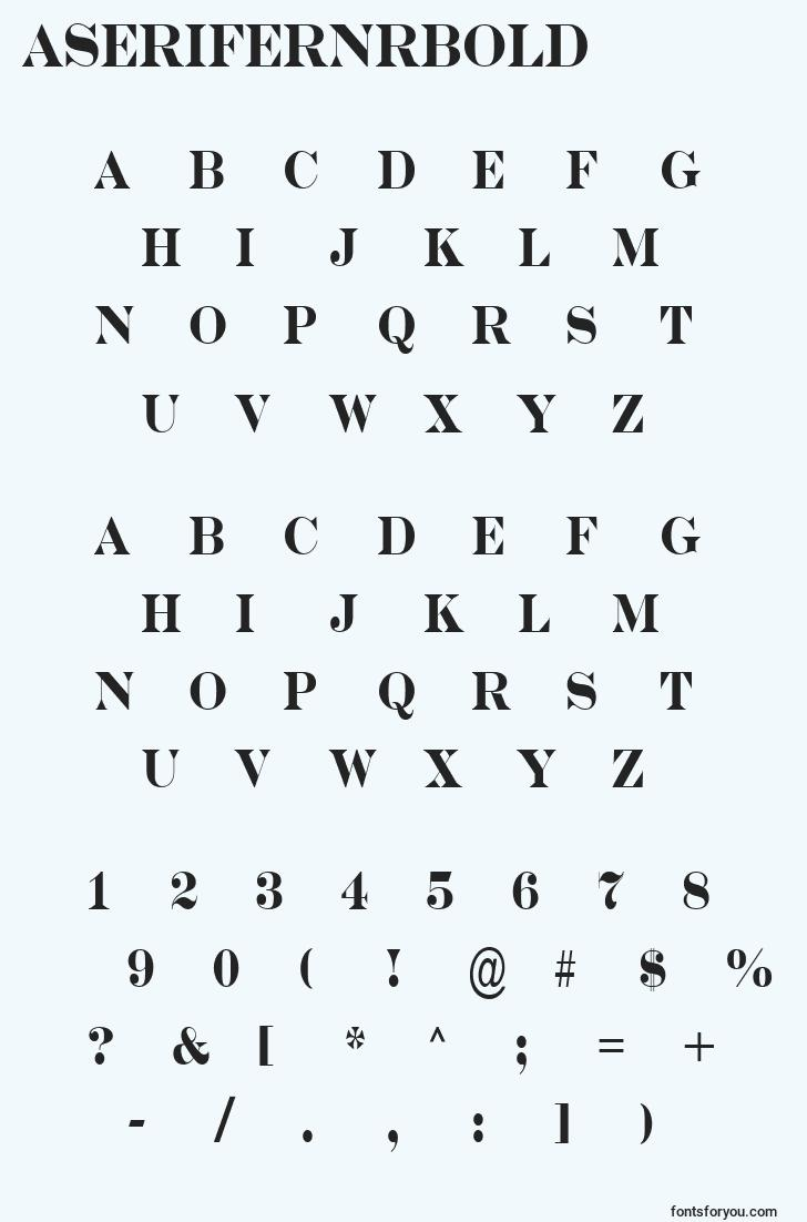 characters of aserifernrbold font, letter of aserifernrbold font, alphabet of  aserifernrbold font