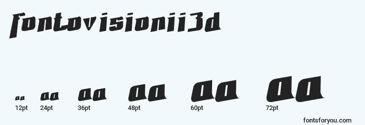 sizes of fontovisionii3d font, fontovisionii3d sizes
