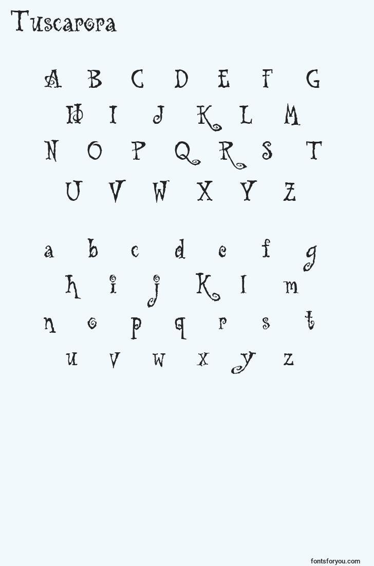 characters of tuscarora font, letter of tuscarora font, alphabet of  tuscarora font