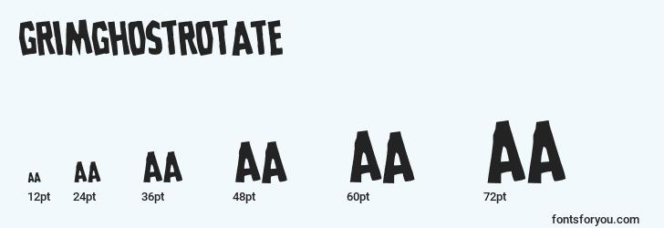 sizes of grimghostrotate font, grimghostrotate sizes