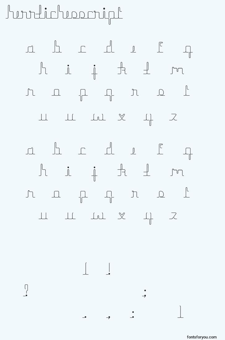 characters of herrlichesscript font, letter of herrlichesscript font, alphabet of  herrlichesscript font