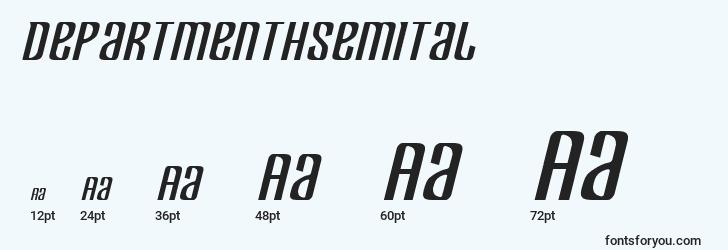 sizes of departmenthsemital font, departmenthsemital sizes