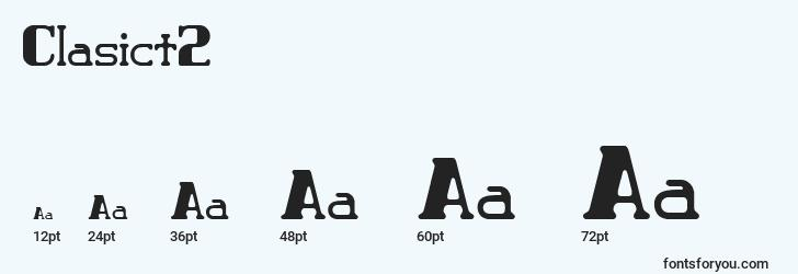 sizes of clasict2 font, clasict2 sizes