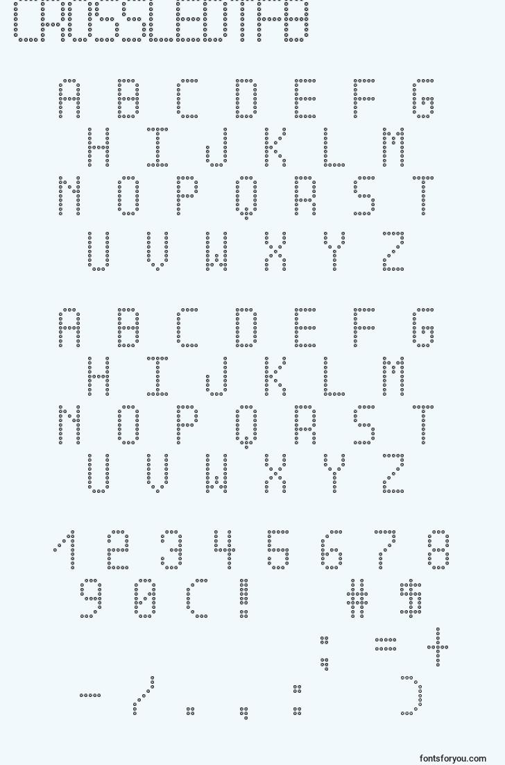 characters of crossledtfb font, letter of crossledtfb font, alphabet of  crossledtfb font