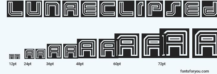 sizes of lunaeclipsed font, lunaeclipsed sizes
