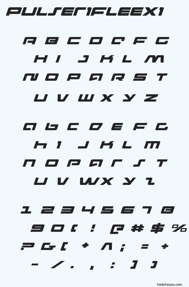 characters of pulserifleexi font, letter of pulserifleexi font, alphabet of  pulserifleexi font