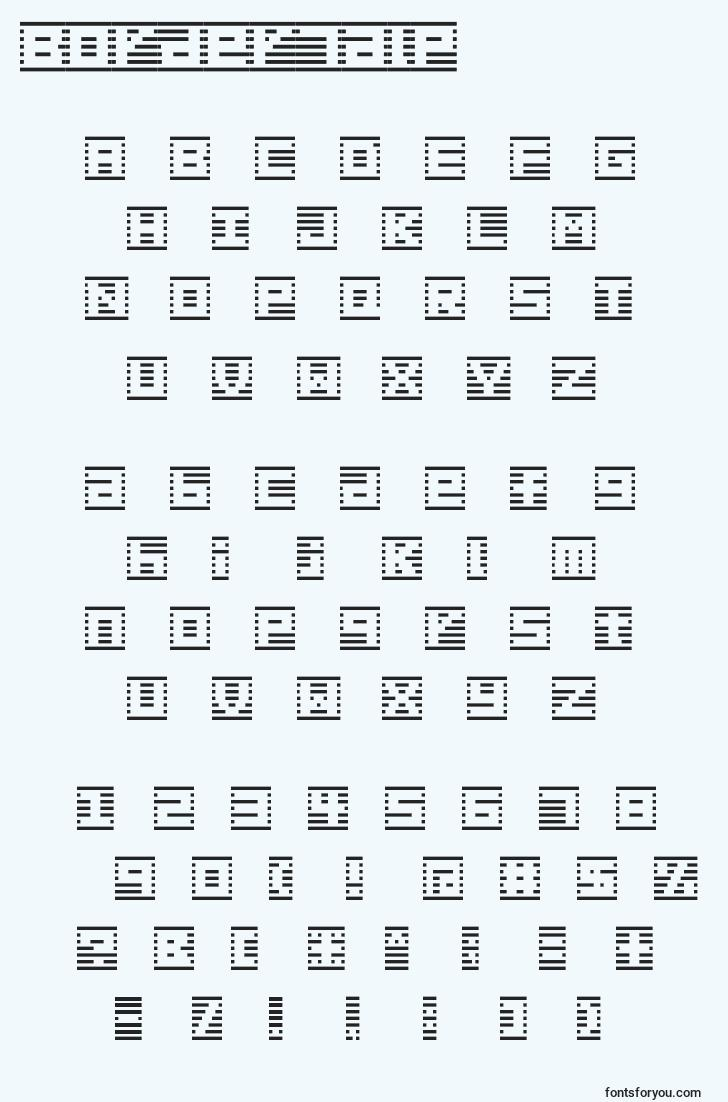 characters of border7alp font, letter of border7alp font, alphabet of  border7alp font