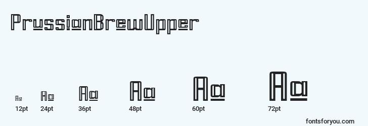 sizes of prussianbrewupper font, prussianbrewupper sizes