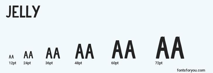 sizes of jelly font, jelly sizes