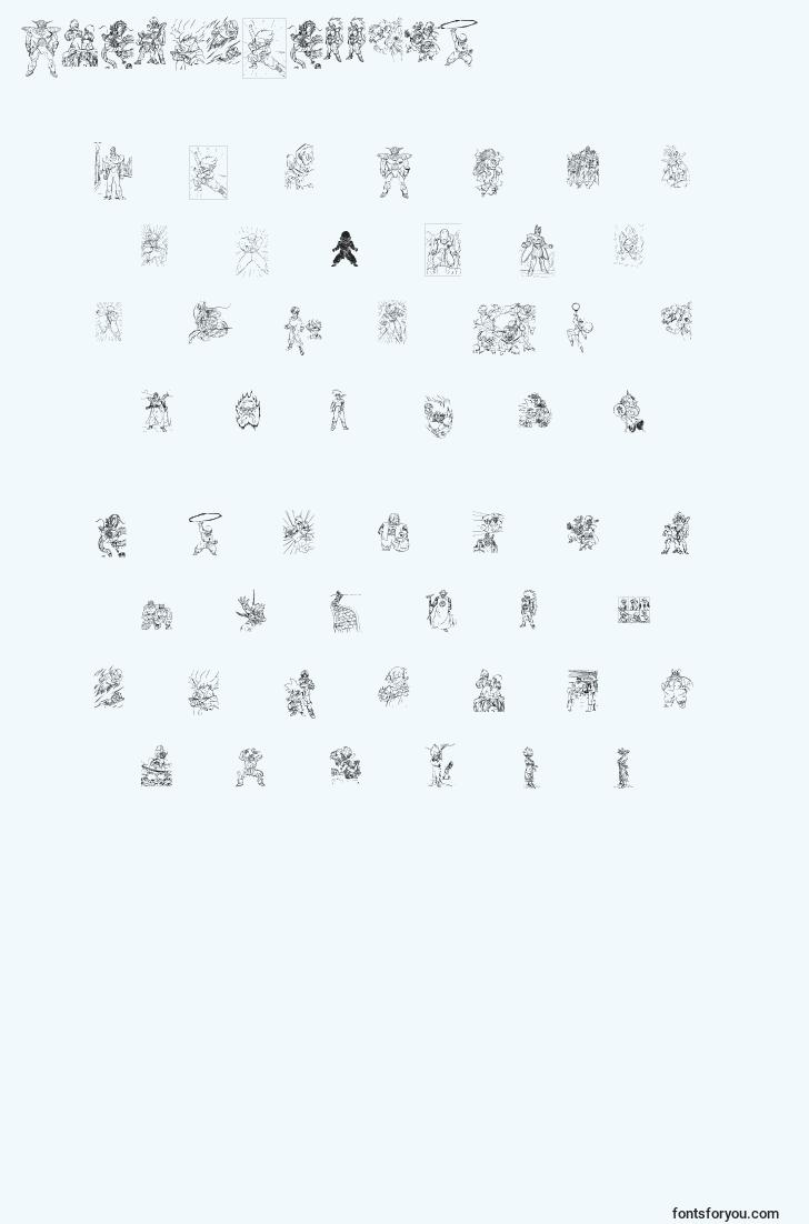 characters of dragonballtfb font, letter of dragonballtfb font, alphabet of  dragonballtfb font
