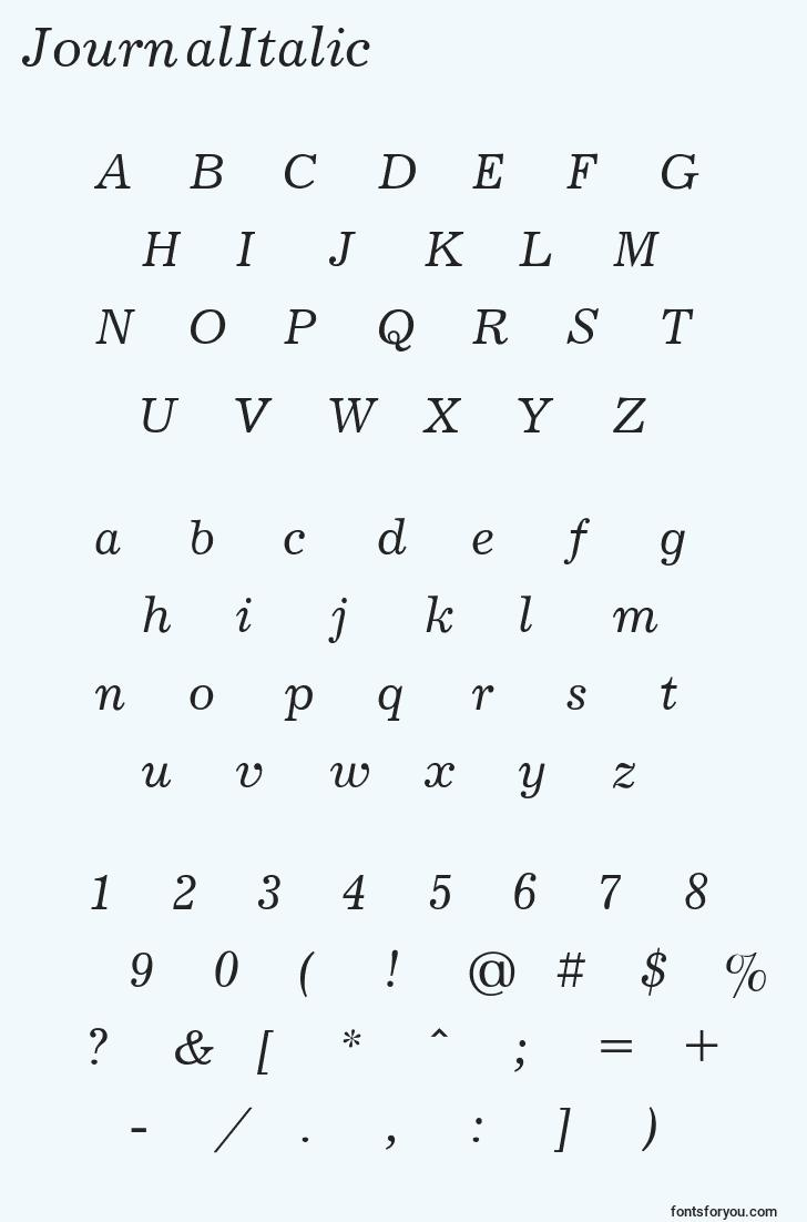 characters of journalitalic font, letter of journalitalic font, alphabet of  journalitalic font
