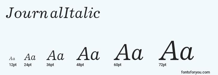 sizes of journalitalic font, journalitalic sizes
