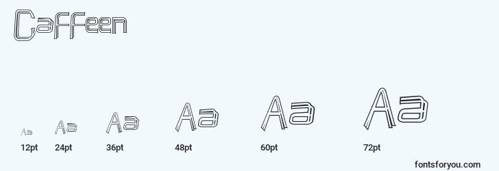 sizes of caffeen font, caffeen sizes
