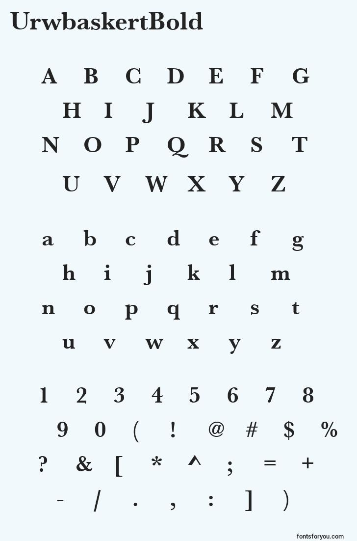 characters of urwbaskertbold font, letter of urwbaskertbold font, alphabet of  urwbaskertbold font