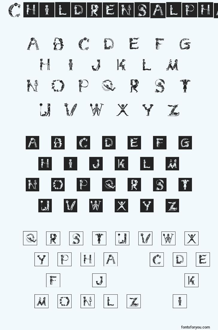 characters of childrensalphabetinvers font, letter of childrensalphabetinvers font, alphabet of  childrensalphabetinvers font