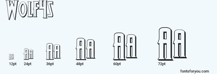 sizes of wolf4s font, wolf4s sizes