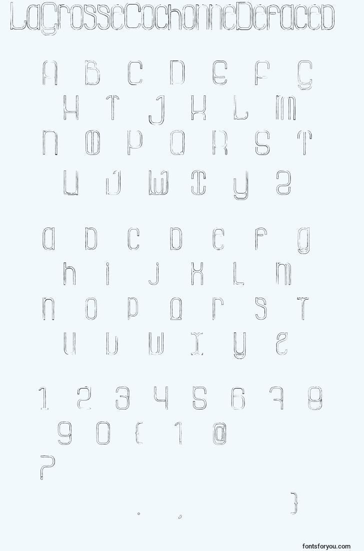 characters of lagrossecochonnedefaced font, letter of lagrossecochonnedefaced font, alphabet of  lagrossecochonnedefaced font