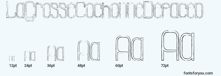 sizes of lagrossecochonnedefaced font, lagrossecochonnedefaced sizes