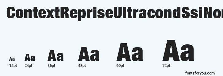 sizes of contextrepriseultracondssinormal font, contextrepriseultracondssinormal sizes
