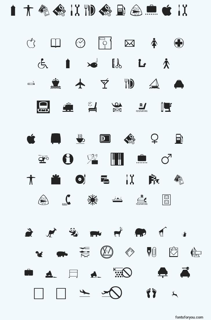 characters of interregular font, letter of interregular font, alphabet of  interregular font