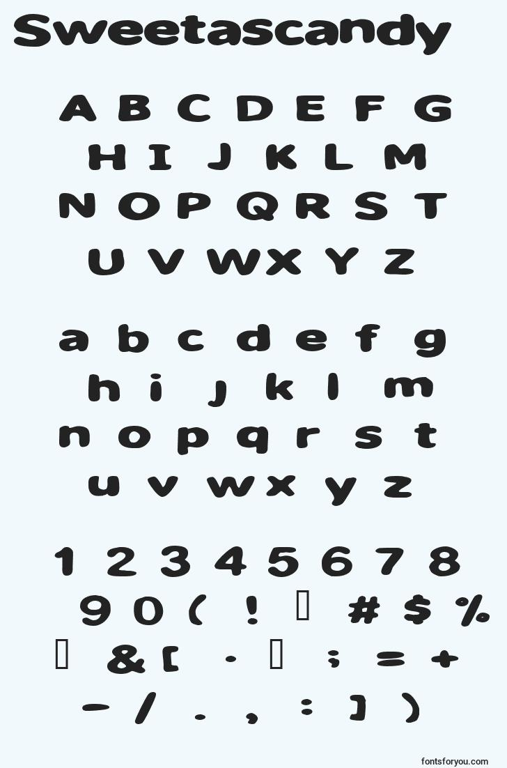 characters of sweetascandy font, letter of sweetascandy font, alphabet of  sweetascandy font