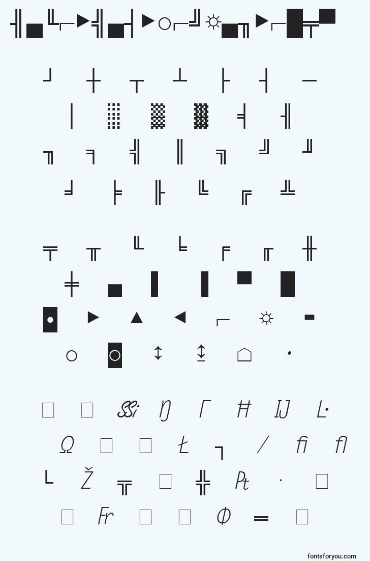 characters of micropifourssinormal font, letter of micropifourssinormal font, alphabet of  micropifourssinormal font
