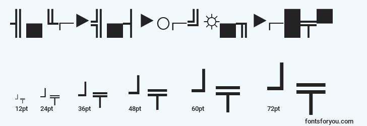 sizes of micropifourssinormal font, micropifourssinormal sizes