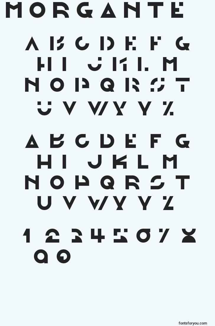 characters of morgante font, letter of morgante font, alphabet of  morgante font